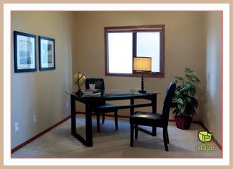 set your stage blog staging an office set your stage. Black Bedroom Furniture Sets. Home Design Ideas