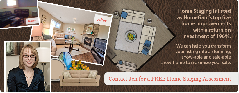 Contact Jen for a FREE Home Staging Assessment