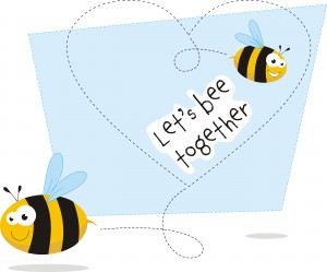 Eco Conscious Valentine Let's Bee Together